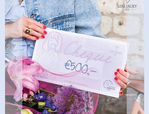 Eerste cheque Nationaal Ouderenfonds